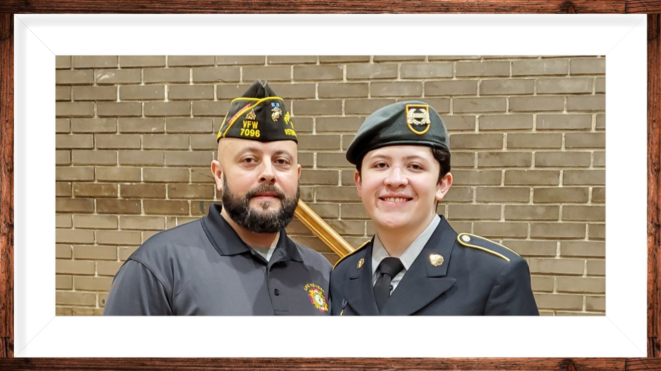 Cadet PFC Rodriguez was promoted and received awards for Recruitment & Leadership.